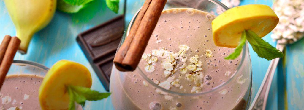 Receta nutritiva: Batido de chocolate y plátano