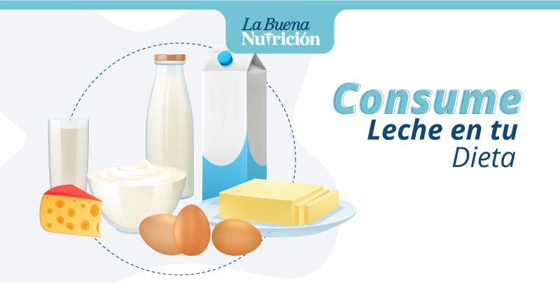 Agrega leche a tu dieta