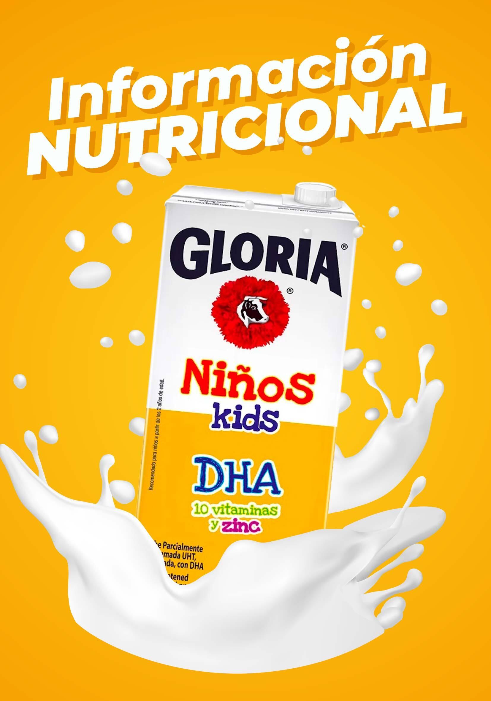 Información Nutricional Gloria Niños con DHA