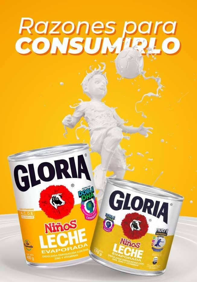 Razones para consumir Gloria Niños con doble DHA